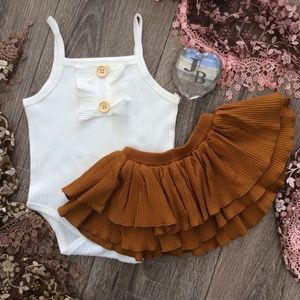 Boutique Baby Girls Tank & Skirt Set